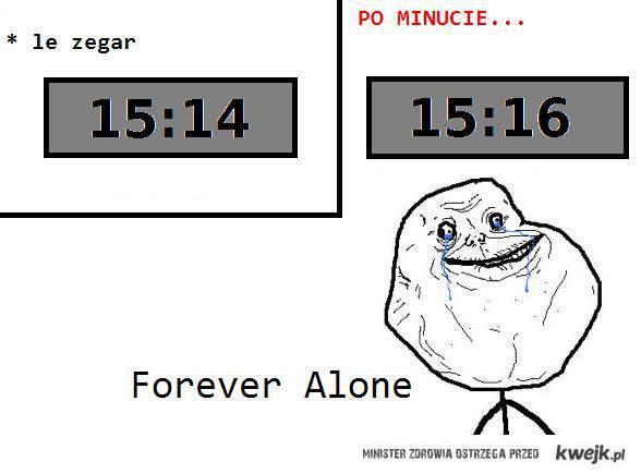 forever alone zegar