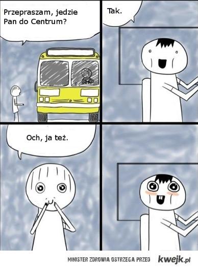Gryps w autobusie