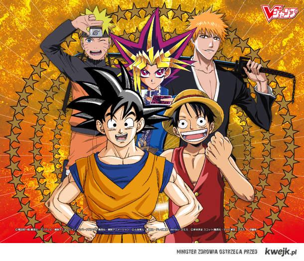 Naruto,Goku,Yugi,Ichigo,Luffy