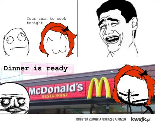jedzenie według faceta