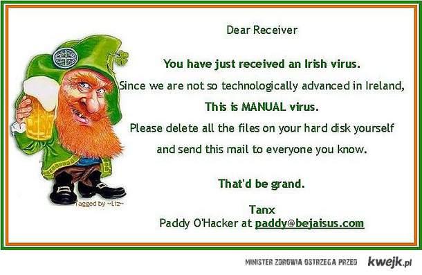the irish virus