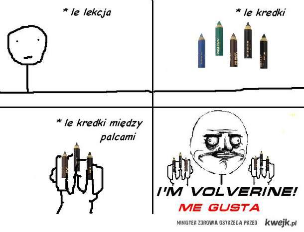 I'M VOLVERINE! ><