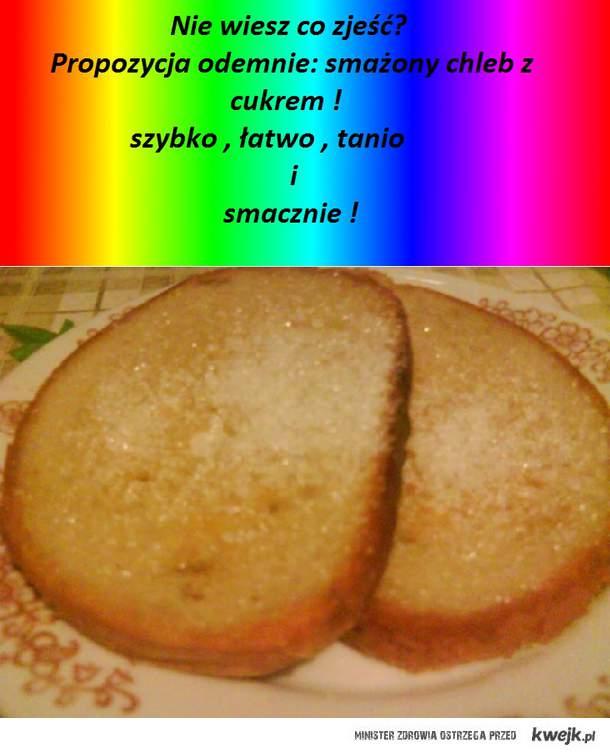 smażony chleb z cukrem
