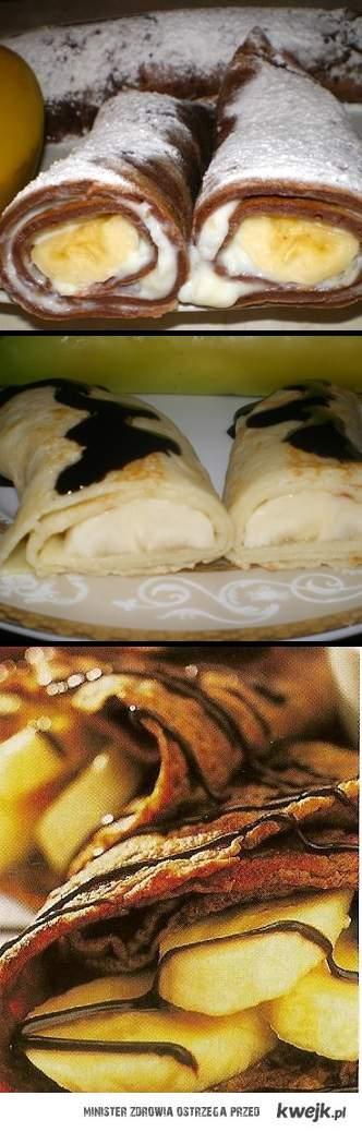 naleśniki z czekoladką i bananami<3
