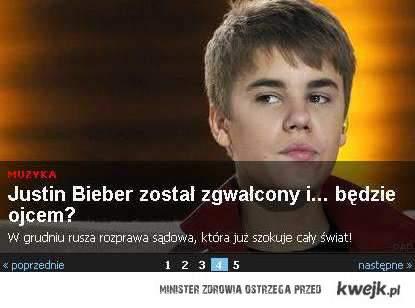 Bieber zgwałcony, będzie ojcem!