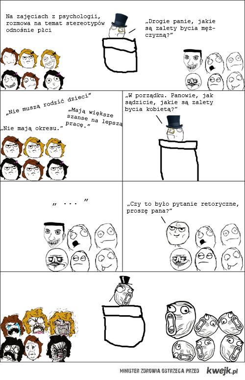 na lekcji psychologii