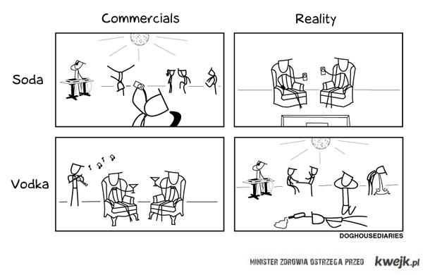 commercials vs reality