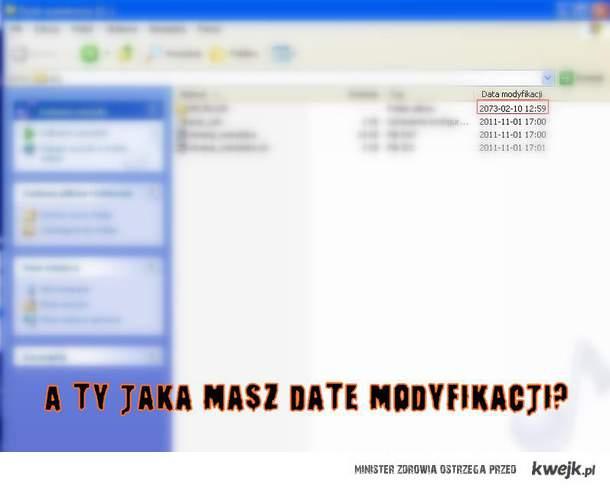 A ty jaką masz Date modyfikacji?