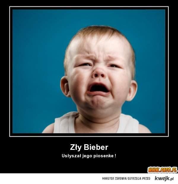 Dzieci już w wieku 2 lat po usłyszeniu biebera płaczą xD