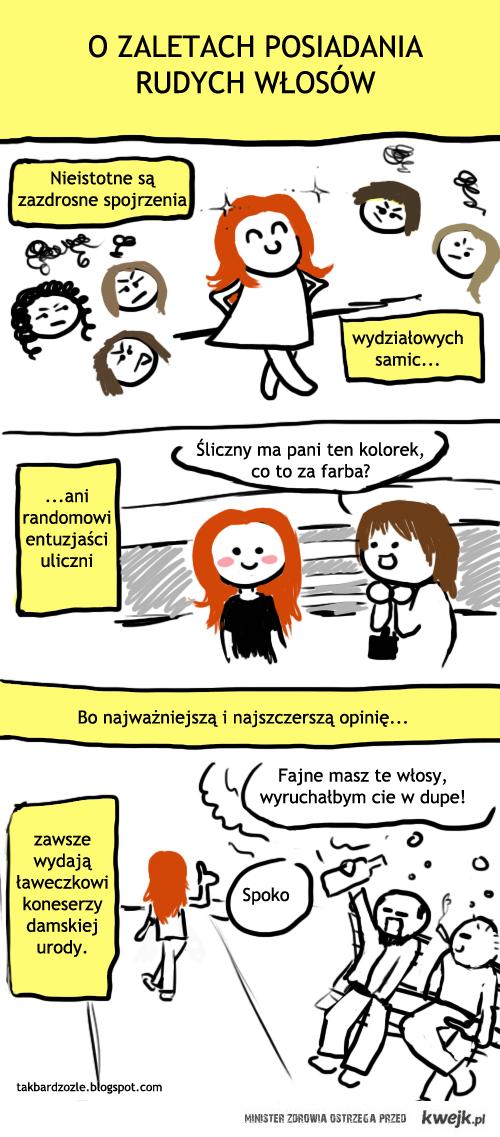 PLus rudych włosów