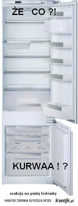 Reakcja głodnego na pustą  lodówkę