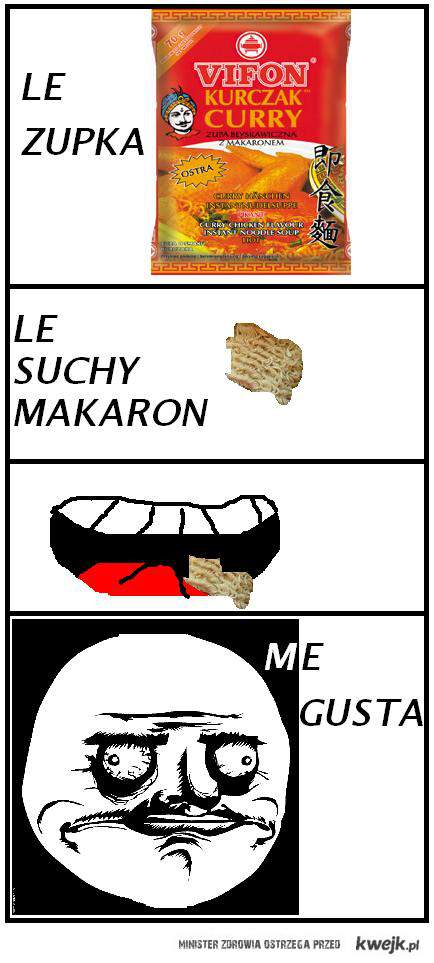 SUCHY MAKARON Z ZUPEK