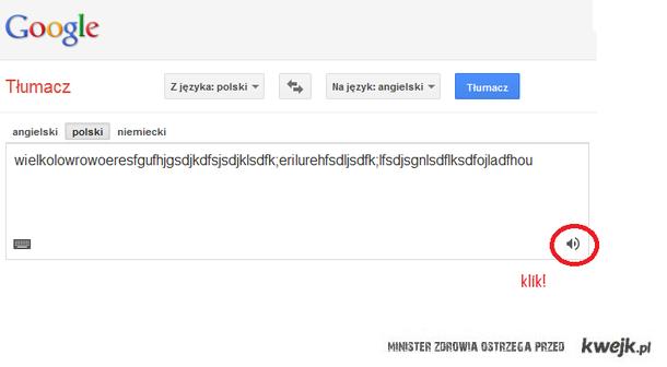 Google tłumacz XD