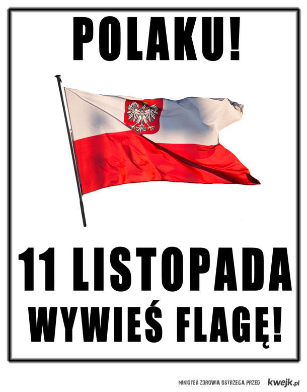 Polaku! Nie hańb naszej pamięci! Wywieś Flagę!