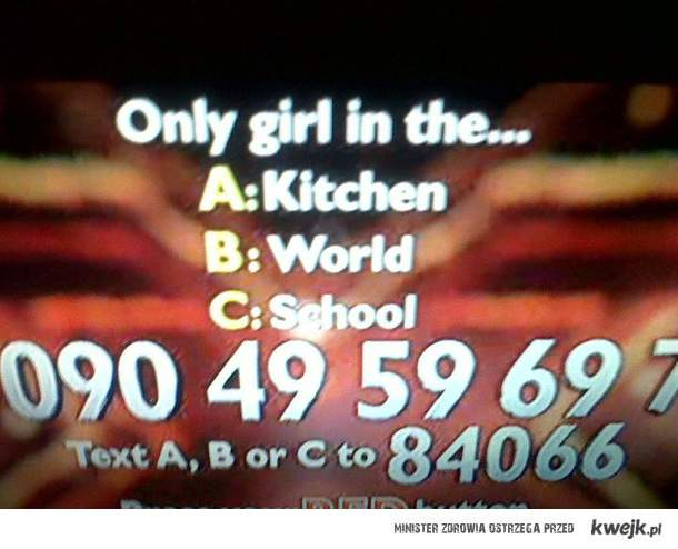 only girl in the...