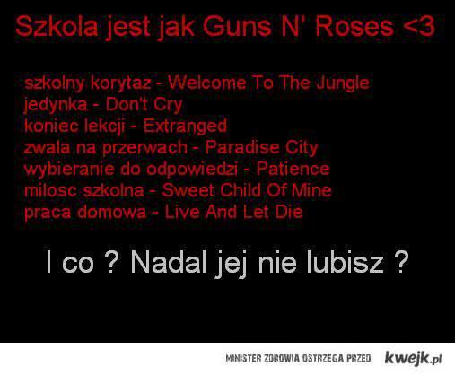 Szkola jak Guns N' Roses