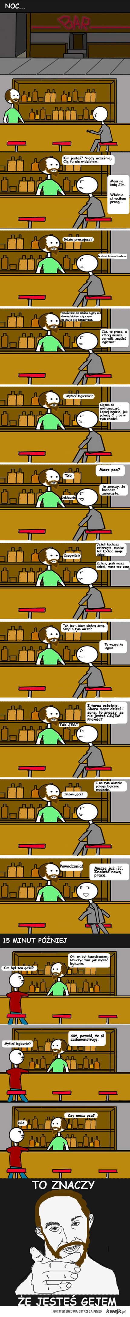 sylogizm w barze