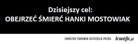 śmierć Hanki z M jak Miłość. xd