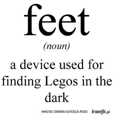 Stopy - urzadzenie do znajdowania lego w ciemnosci