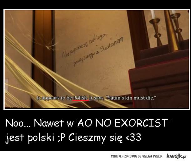 Ao No Exorcist i język polski ;P