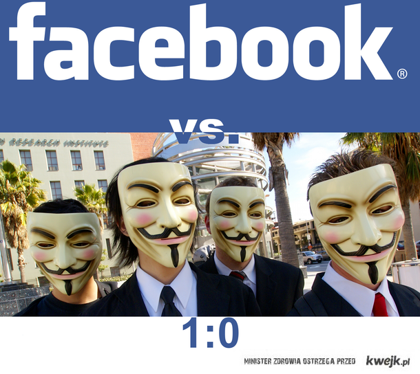 Facebook vs. Anonymous 1:0