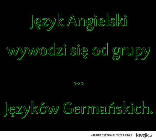 Język Angielski, pochodzenie