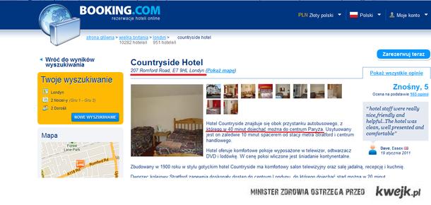 W Londynie znajduje się bardzo nietypowy hotel...