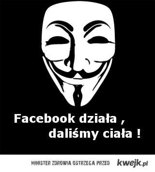 Facebook działa.