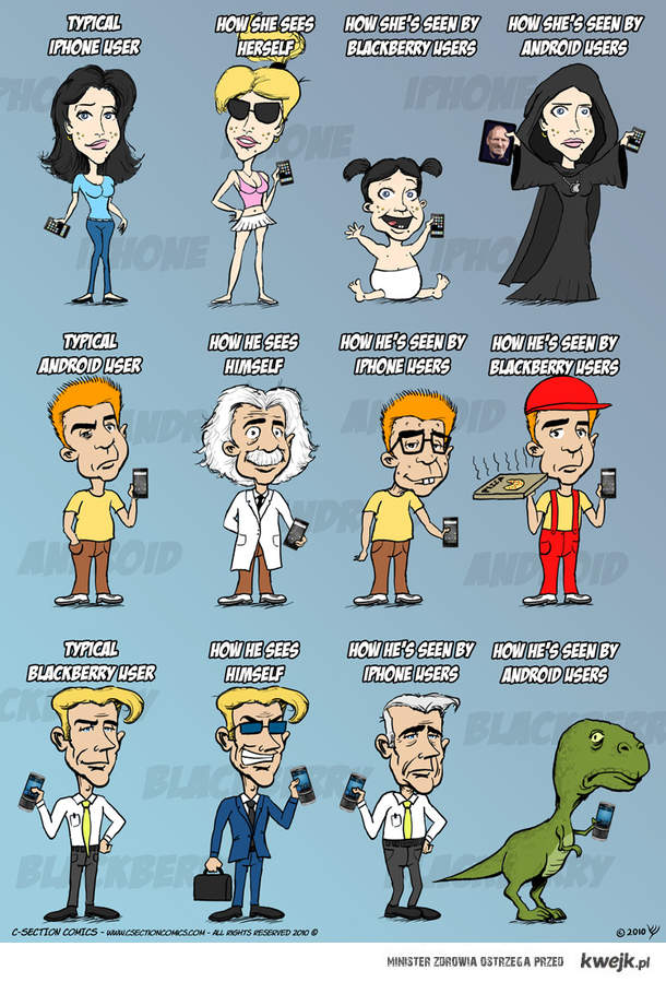 iPhone vs Blackberry vs Android