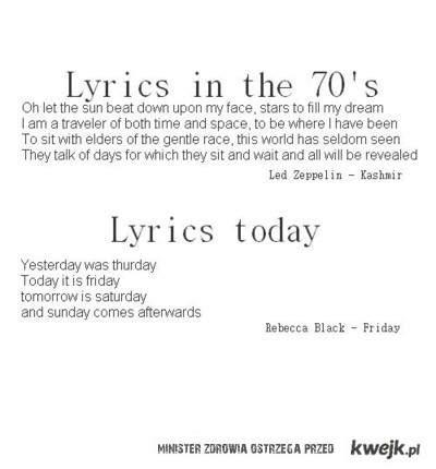 Słowa piosenek