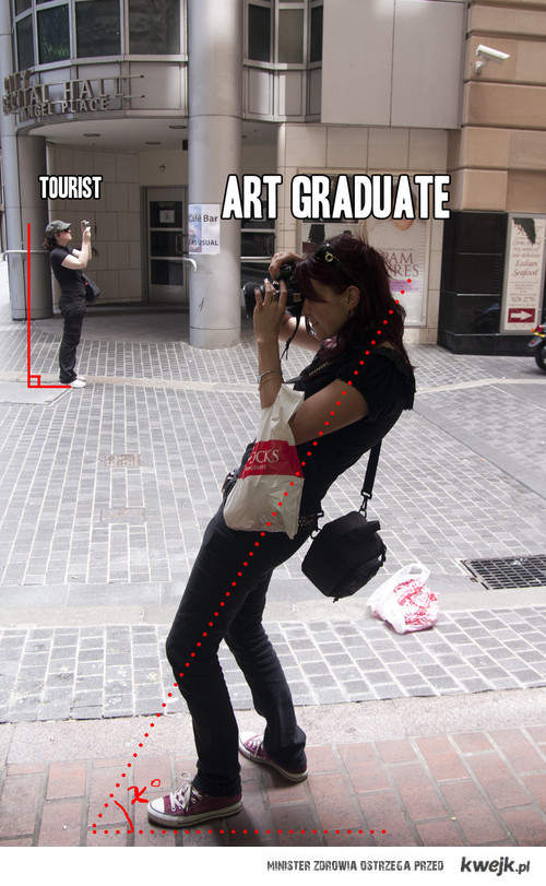 fotograf turysta i fotograf artysta