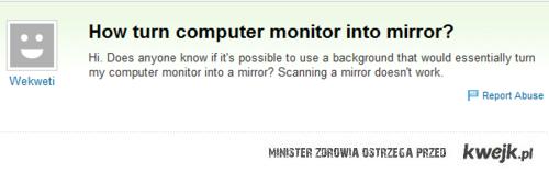 lustro z monitora