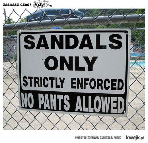sandals only