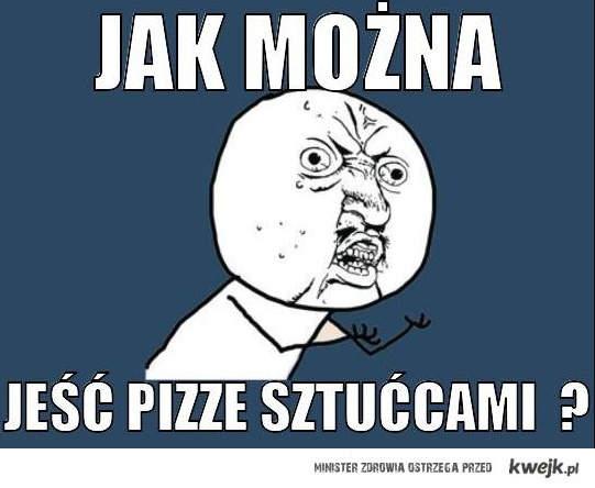 pizza i sztućce