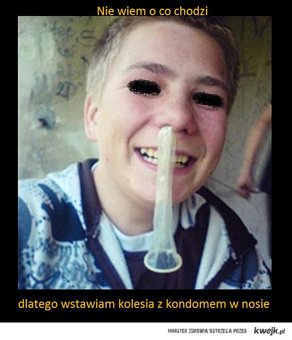 kondom w nosie