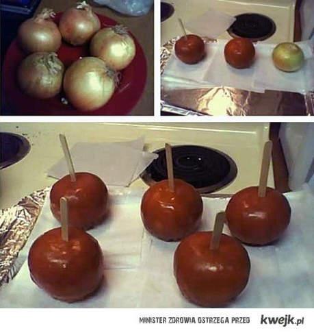 Cebule w karmelu