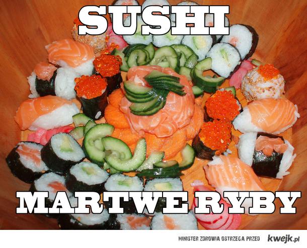 sushi martwe ryby