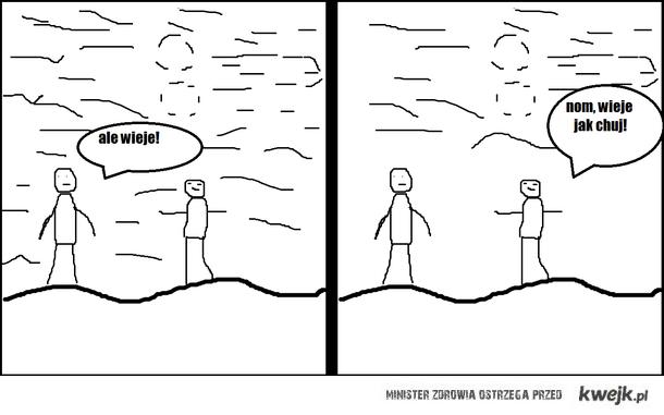 komiks wieje
