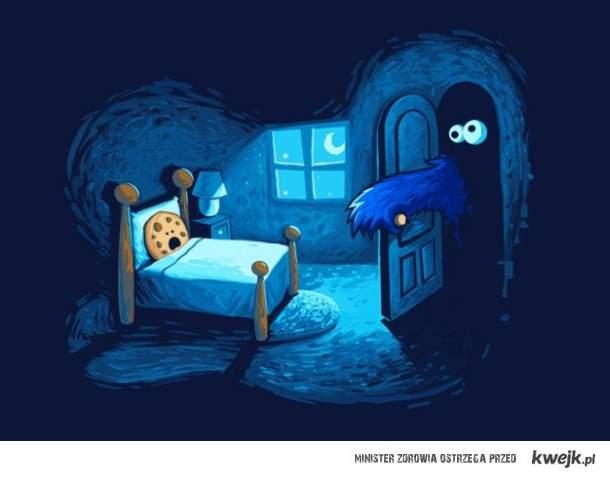 Ciasteczkowy Potwór nigdy nie śpi...