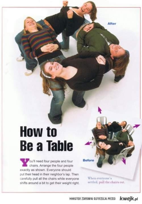 ludzki stół
