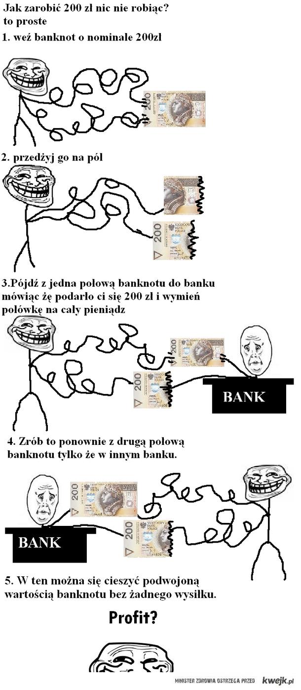 trollface zarabia 200 zł
