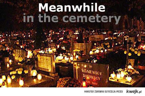 idz na cmentarz! tylko raz w roku jest taki widok!