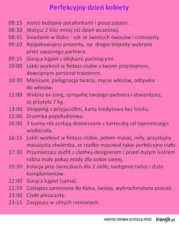 perfekcyjny dzień kobiety