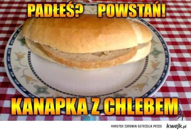 kanapka z chlebem
