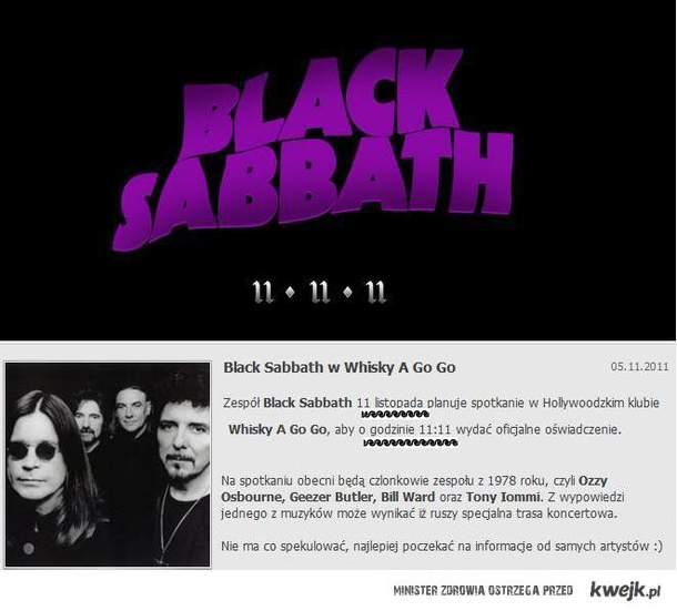 BLACK SABBATH IS BACK!
