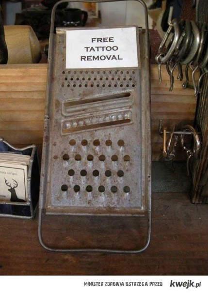 Darmowe usuwanie tatuaży