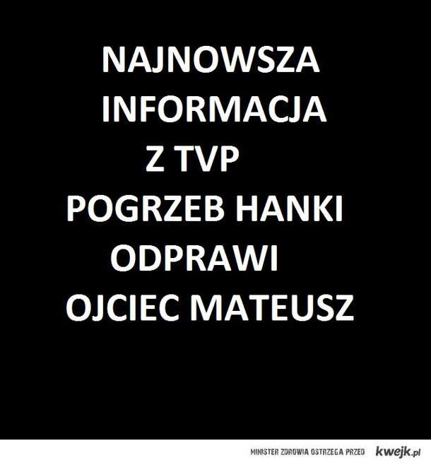 Najnowsze doniesienia z TVP