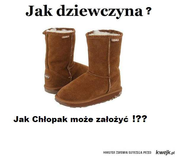 Jak chłopak może założyć takie buty!!??