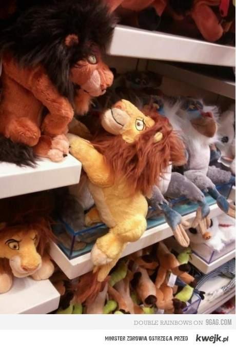 Scena z króla lwa w sklepie ; DD