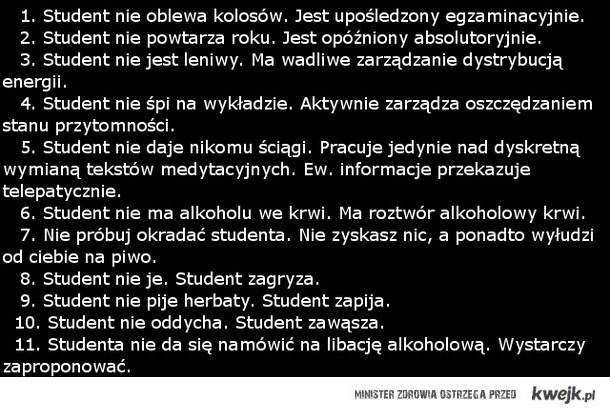 Przypadek studenta